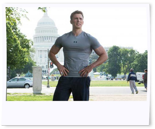 Chris Evans Buffed Up for Captain America: Winter Soldier