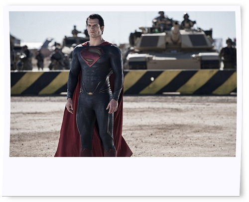 Henry Cavill Buffed Up for Man of Steel